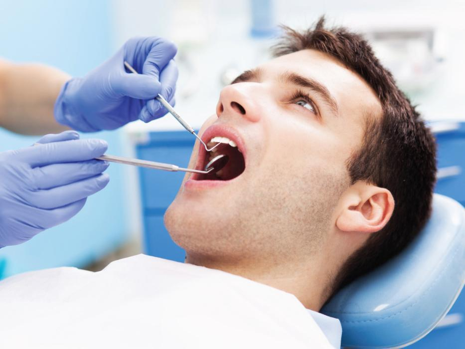 man getting dental work